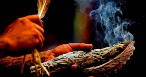 Smudging to Eliminate Negativity
